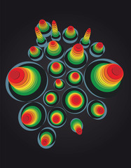 illustration of graphic music equalizer volume