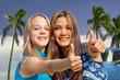 Teenager im Urlaub