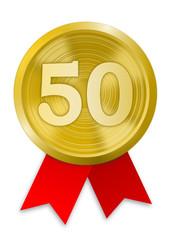 Plakette 50 Jahre
