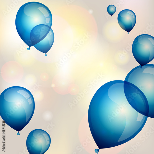 Vector illustration of blue balloons