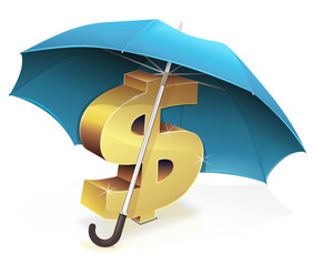 Put the dollar under an umbrella
