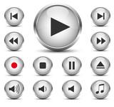 Fototapety Player Button Set
