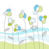 Fototapety Floral greeting card