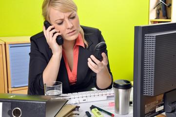 Stress beim Telefonieren