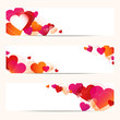 3 Abstract Heart Banner Red/Pink/Orange