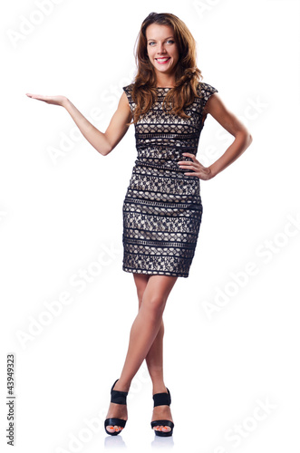 Attractive model holding emtry hands