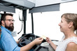 Busdriver and paying Woman