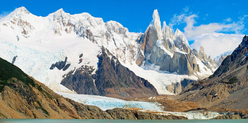 Cerro Torre mountain panorama in Patagonia, South America