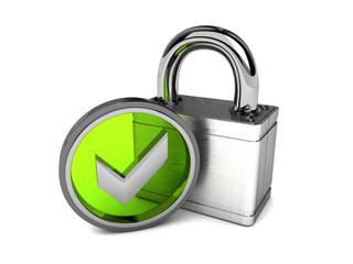 geprüfte Sicherheit silber