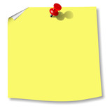 pin bulletin board memo yellow
