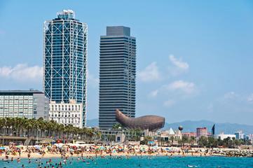 The Barceloneta beach.
