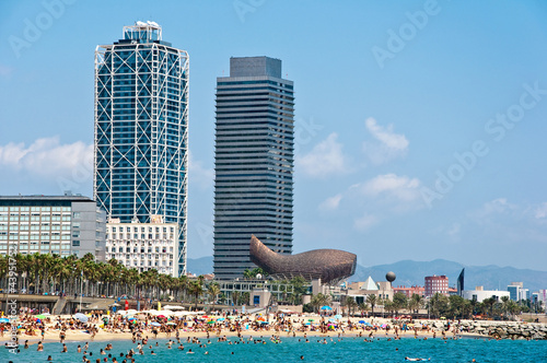 The Barceloneta beach.