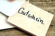 Gutschein  Brief