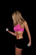 woman sweat weightspink side