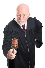 Angry Judge Bangs Gavel