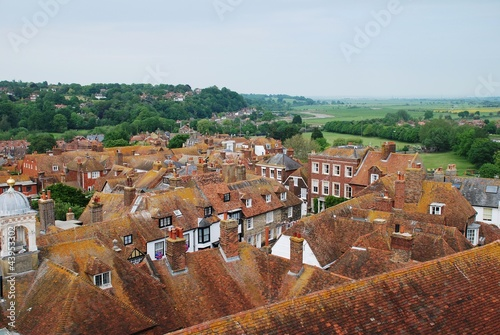 Rye rooftops, East Sussex, England