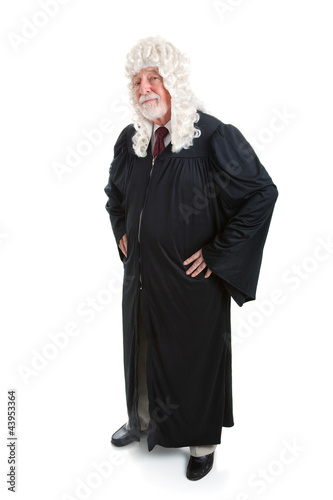 Judge in Wig - full body