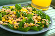 Tuna, sweetcorn, green olive and watercress salad