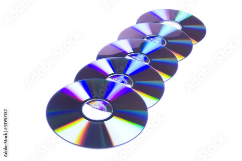 Row Of Five DVD Disks