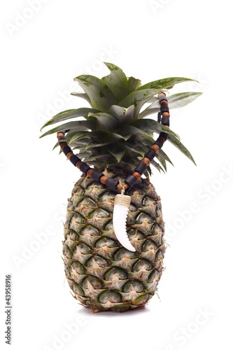 pineapple with creative amulet
