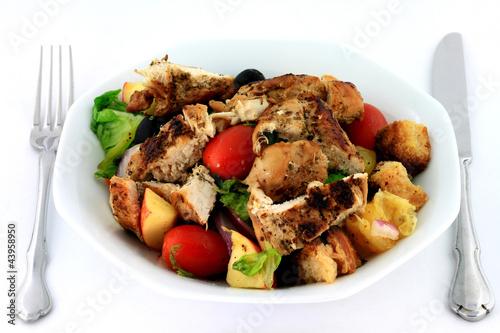 Chicken Salad in porcelain dish.