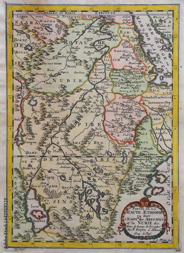 Original antique east Africa map.