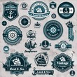 Vintage nautical set template