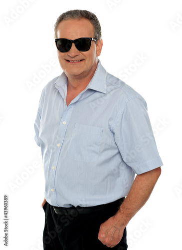 Stylish portrait of casual aged male model