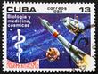 Postage stamp Cuba 1980 Biology and Medicine, Intercosmos