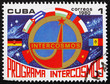 Postage stamp Cuba 1980 Emblem, National Flags, Intercosmos