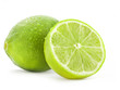Fresh lime and slice, Isolated on white background