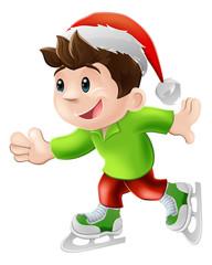 Christmas ice skater