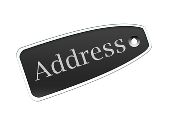 Etiqueta address negro