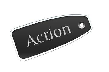 Etiqueta action negro