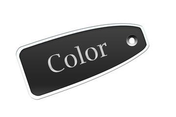 Etiqueta color negro