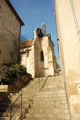 stairs to a church