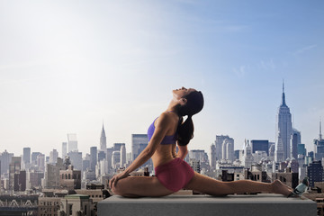 Yoga on roof top