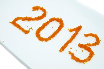 цифры 2013 из икры