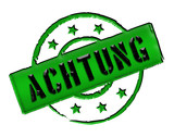 Stamp - ACHTUNG