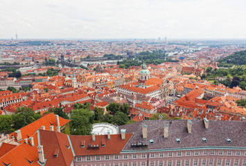 View of  Prague from an observation deck