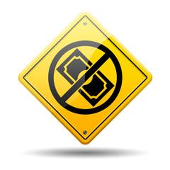 Señal amarilla simbolo gratis