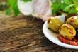 Mittelmeerküche - Hintergrund mit Copyspace