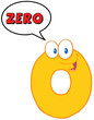 """Number Zero Funn... Zero Cartoon Character"