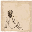 art drawing of a woman