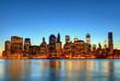 Lumière crépusculaire à New York.