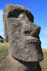 Ancient moai statue on Easter Island