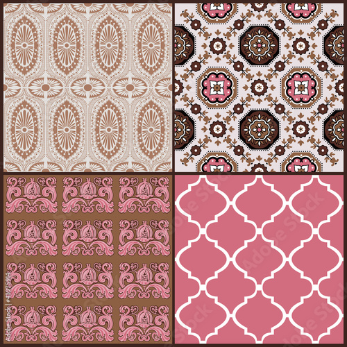 Set of Vintage Tiles Backgrounds - design elements for scrapbook