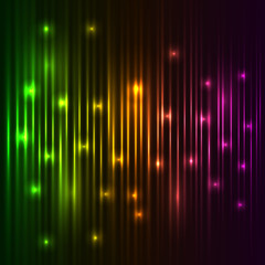 Abstract colorful vector lights background.
