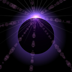 Eclipse vector background.