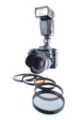 Digitalkamera mit Blitzlicht